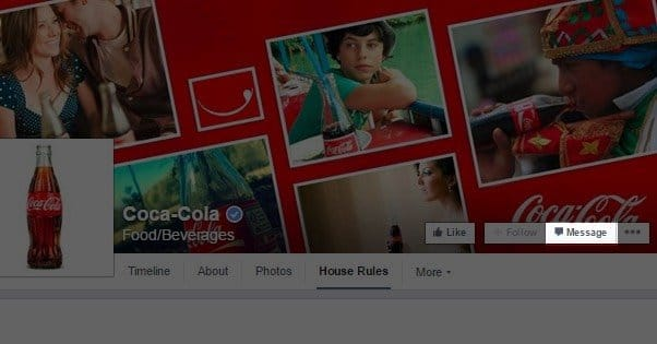 how to send a private text message on facebook