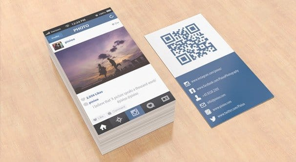 Instagram Business Card