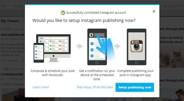 Manage Instagram on Hootsuite