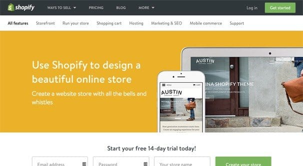 Creating a Store on Shopify