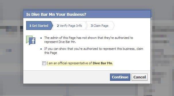 Claim a Business on Facebook