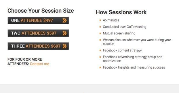 Facebook Ads Consulting Pricing