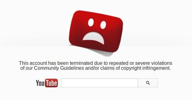 YouTube Account Banned