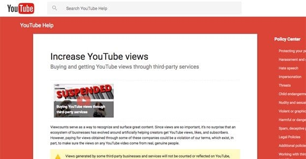 YouTube Article on Buying Views