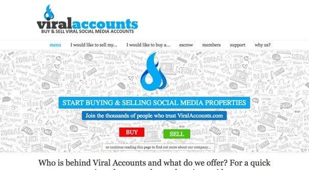 Viral Accounts Website