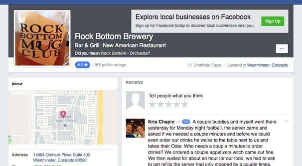Example Business on Facebook Places