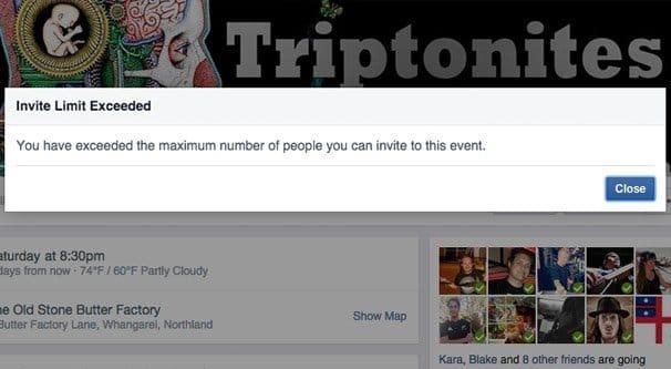 Facebook Group Invite Limit