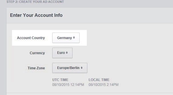 Dropdown Country Facebook Ads Setup