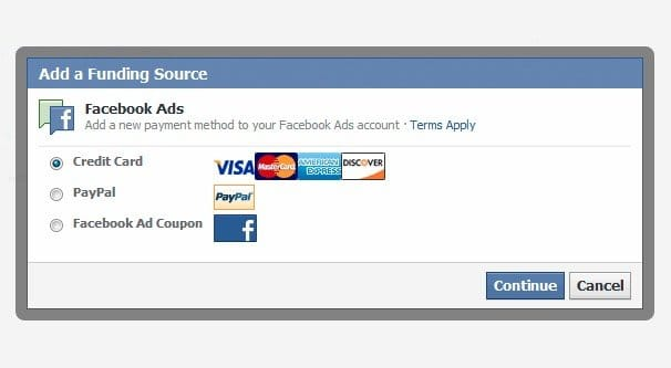 Funding Sources on Facebook