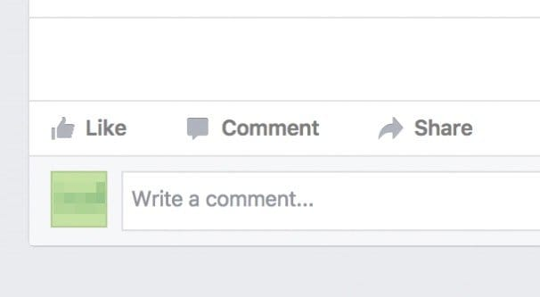 Writing a Comment on Facebook